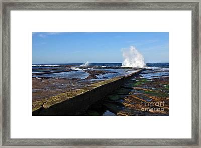Ocean View Framed Print by Kaye Menner