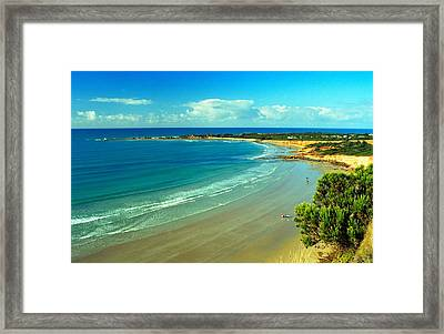 Framed Print featuring the photograph Ocean Walk by Dennis Lundell