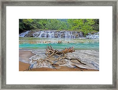 Ocean Waterfall Framed Print by Betsy Knapp