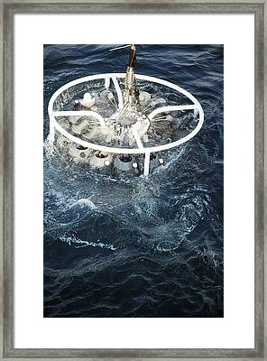 Oceanography Research Framed Print by Photostock-israel
