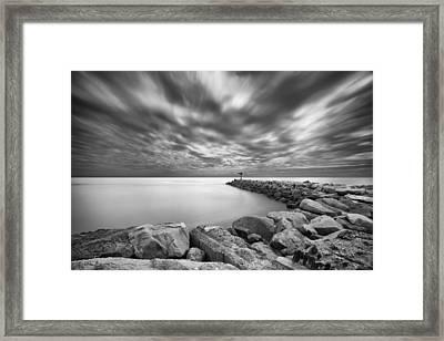 Oceanside Harbor Jetty 2 Framed Print by Larry Marshall