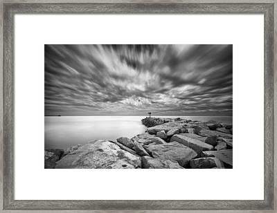 Oceanside Harbor Jetty 4 Framed Print