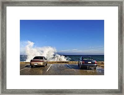 Oceanside Parking Framed Print by Eddy Joaquim