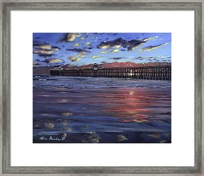 Oceanside Pier Framed Print by Lisa Reinhardt