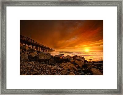 Oceanside Sunset 4 Framed Print