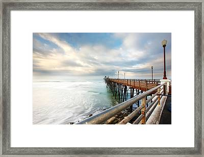 Oceanside Sunset 6 Framed Print by Larry Marshall
