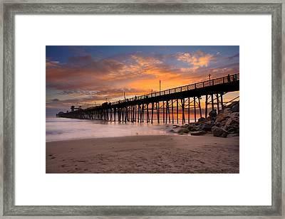 Oceanside Sunset 7 Framed Print by Larry Marshall