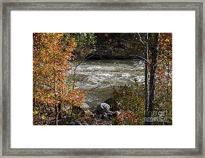 Ocoee River Rapids Framed Print by Margaret Palmer