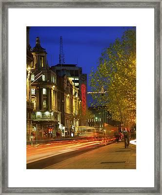 Oconnell Street Bridge, Dublin, Co Framed Print