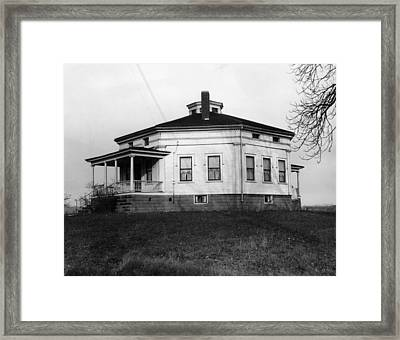 Octagonal House Used Framed Print by Everett