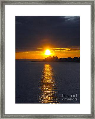 October Connecticut Sunset Framed Print by Cindy Lee Longhini