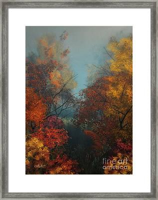 October Framed Print by Jutta Maria Pusl