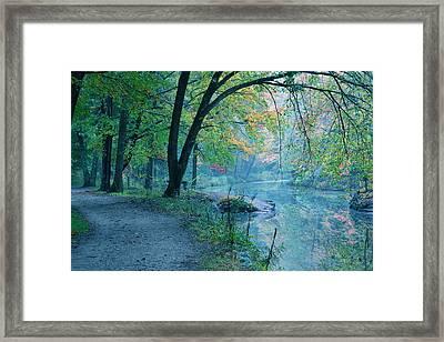 October Mist Framed Print by Mandi Howard