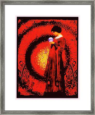 October Moon Framed Print by Janiece Senn