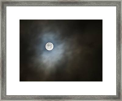 Framed Print featuring the photograph October Moon by Steve Sperry