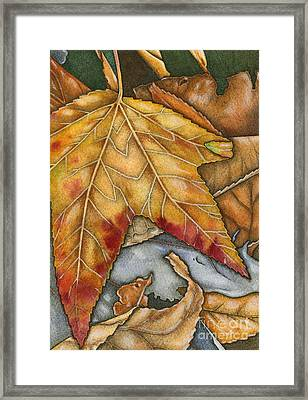 October Framed Print by Nora Blansett