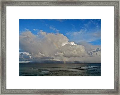 October Rainbow In Maui Framed Print by Kirsten Giving