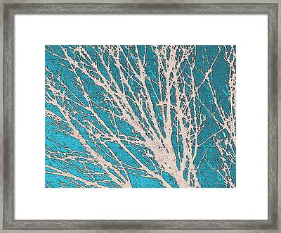 October Silhouette Framed Print