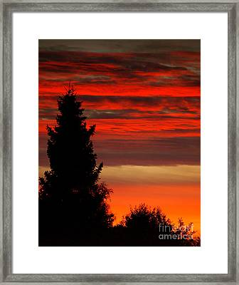 October Sky 4 Framed Print by Michael Canning