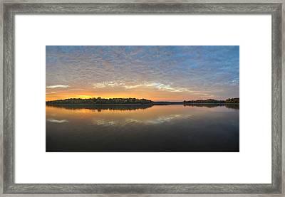 October Sky Framed Print by Brian Mollenkopf