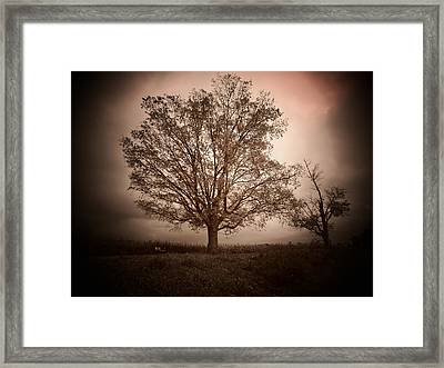 October Storm Framed Print by Michael L Kimble