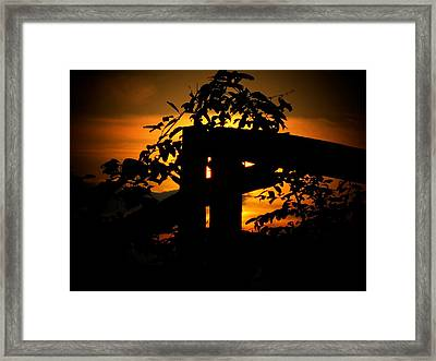 October Sunset Framed Print by Michael L Kimble