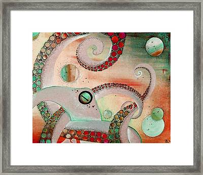 Octopus Tangle Framed Print by Adrienne McMahon