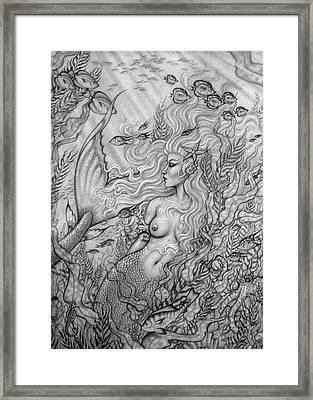 Octopus's Garden Framed Print by Leon Atkinson