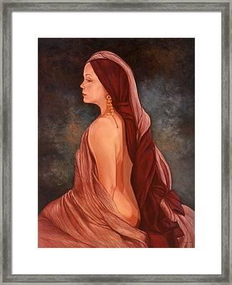 Odalisque Framed Print by Marianne Van der Veer
