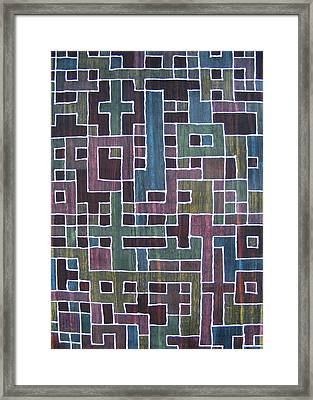 Ode To Trapped Boundary Framed Print by Pam Tapp