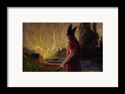 As The Flames Rise Framed Prints