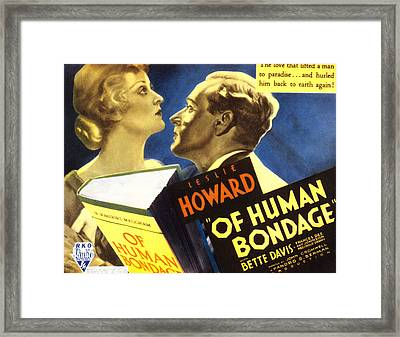 Of Human Bondage, Bette Davis, Leslie Framed Print