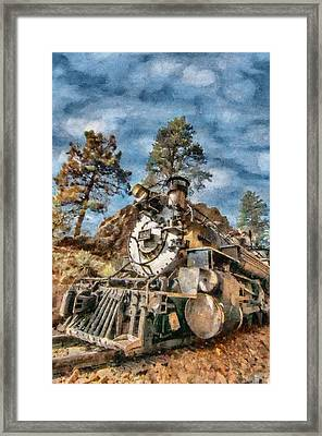 Of Mountain And Machine Framed Print