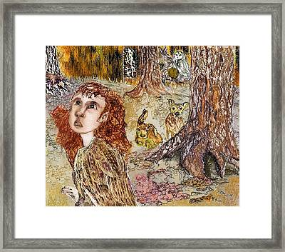 Of The Forest  Framed Print by Cynthia  Richards