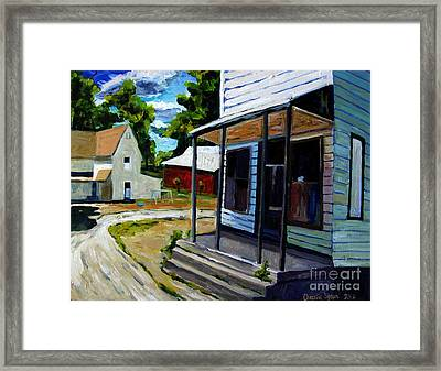 Off Road Reminders Us60 Framed Print by Charlie Spear