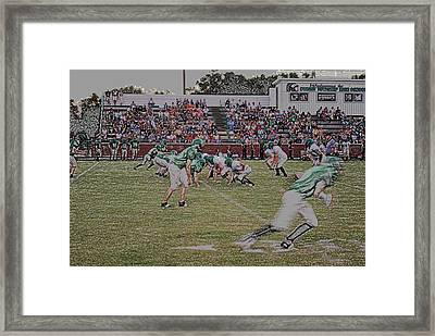 Off Sides Digital Art Framed Print