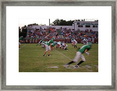 Off Sides Framed Print
