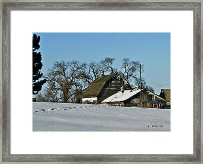 Off To Do The Chores Framed Print by Edward Peterson