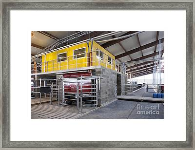 Office And Milking Machine Framed Print