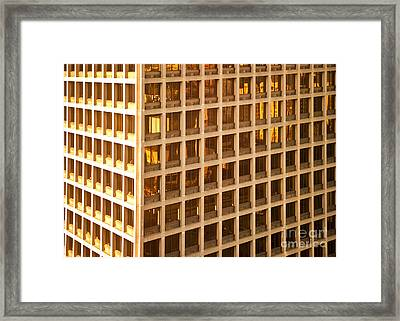 Office Building Framed Print by David Buffington