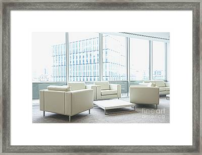 Office Interior Framed Print by Dave & Les Jacobs