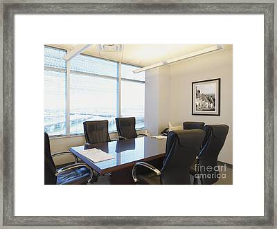 Office Meeting Room Framed Print by Dave & Les Jacobs