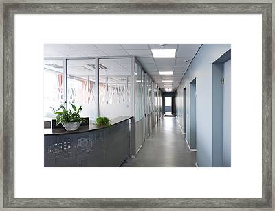 Office Of Greencoal Factory Estonia. A Framed Print