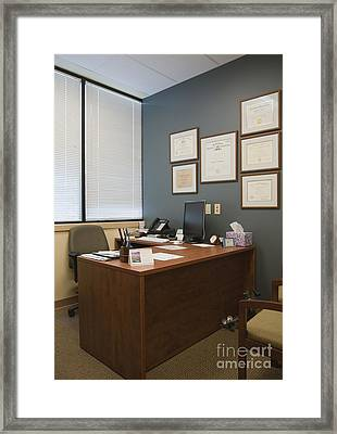 Office Space Framed Print by Andersen Ross