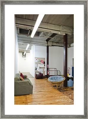 Office Waiting Area Framed Print by Eddy Joaquim