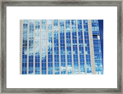 Offices Building In Manhattan Framed Print by Joelle Icard