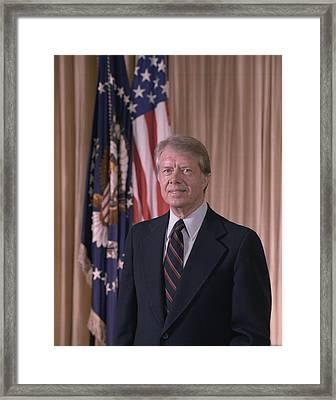 Official Portrait Of President Jimmy Framed Print by Everett