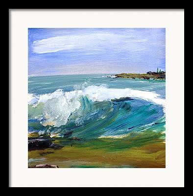 Ogunquit Beach Main Framed Prints
