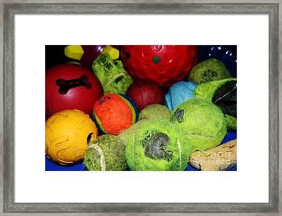 Oh - Balls Framed Print