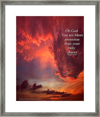 Oh God Framed Print